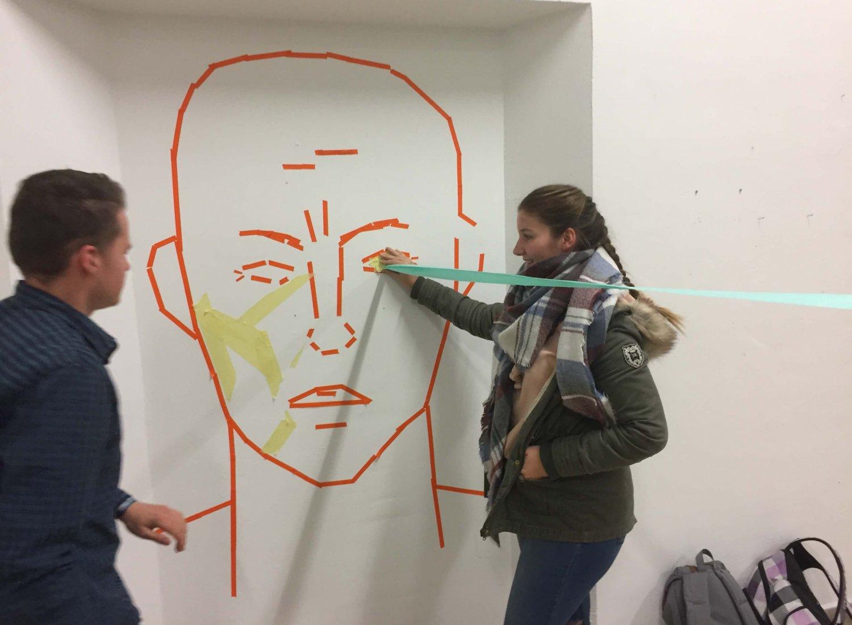 Workshop tape art