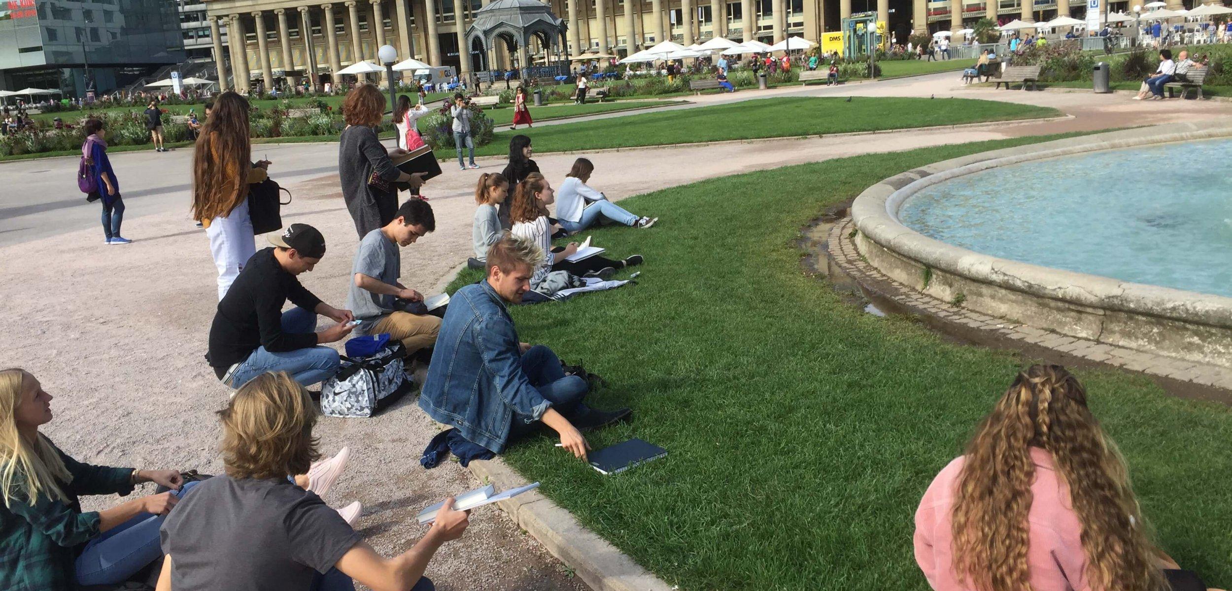 Urban Sketching am Schlossplatz