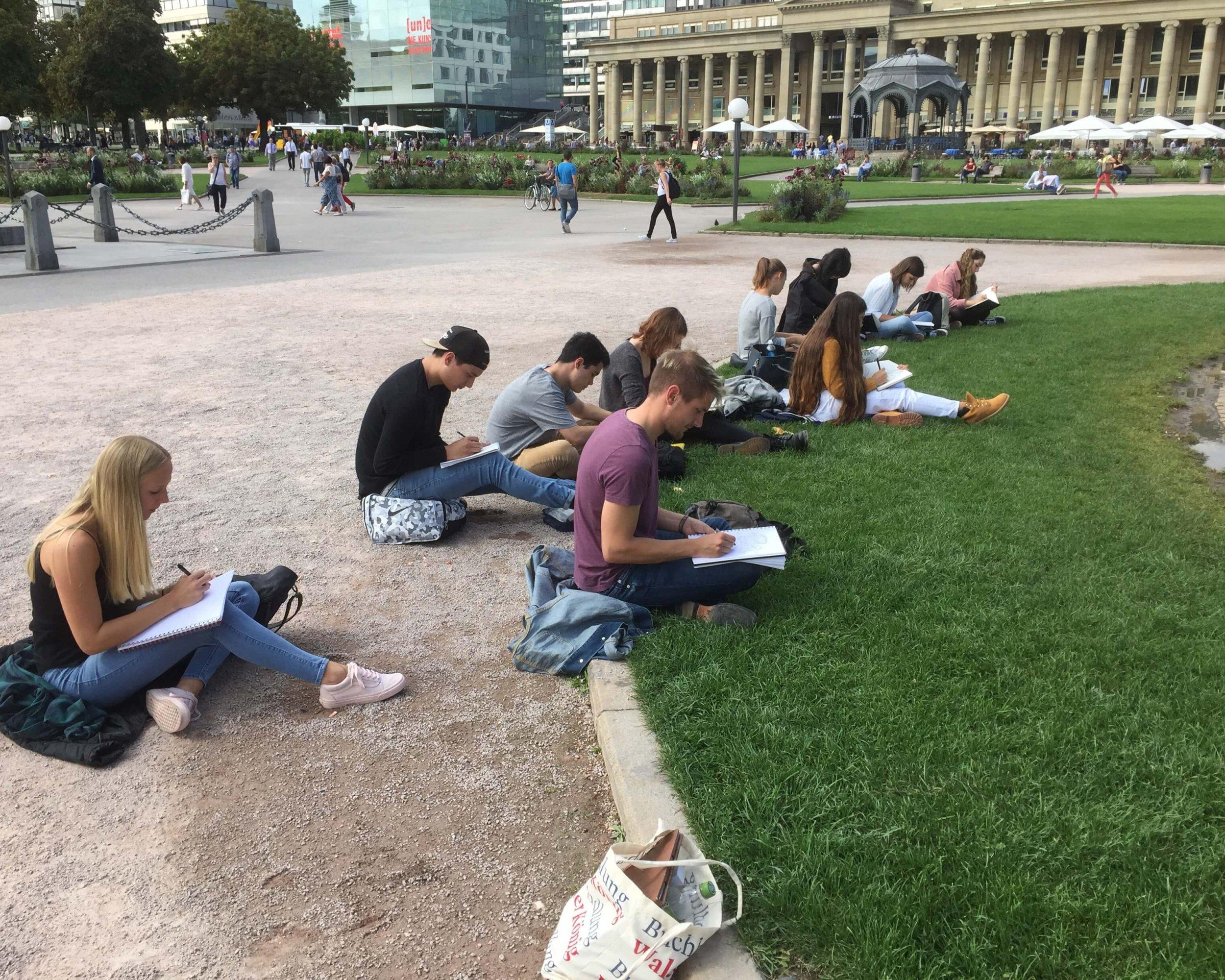 Urban Sketching Schlossplatz