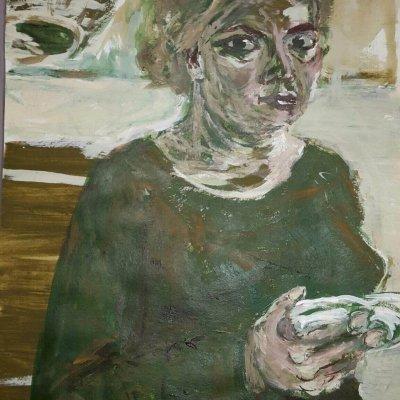 Stephanie gemaltes Portrait