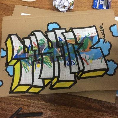 Grafitti-Skizze