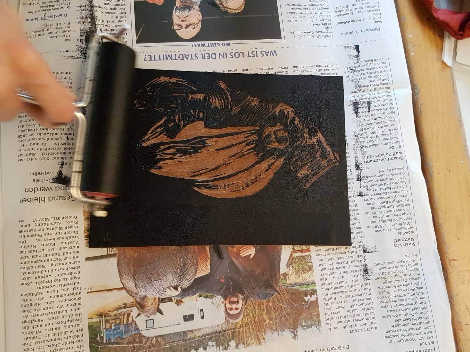 Kreativkreisel Mappenkurs Stuttgart - Linolschnitt