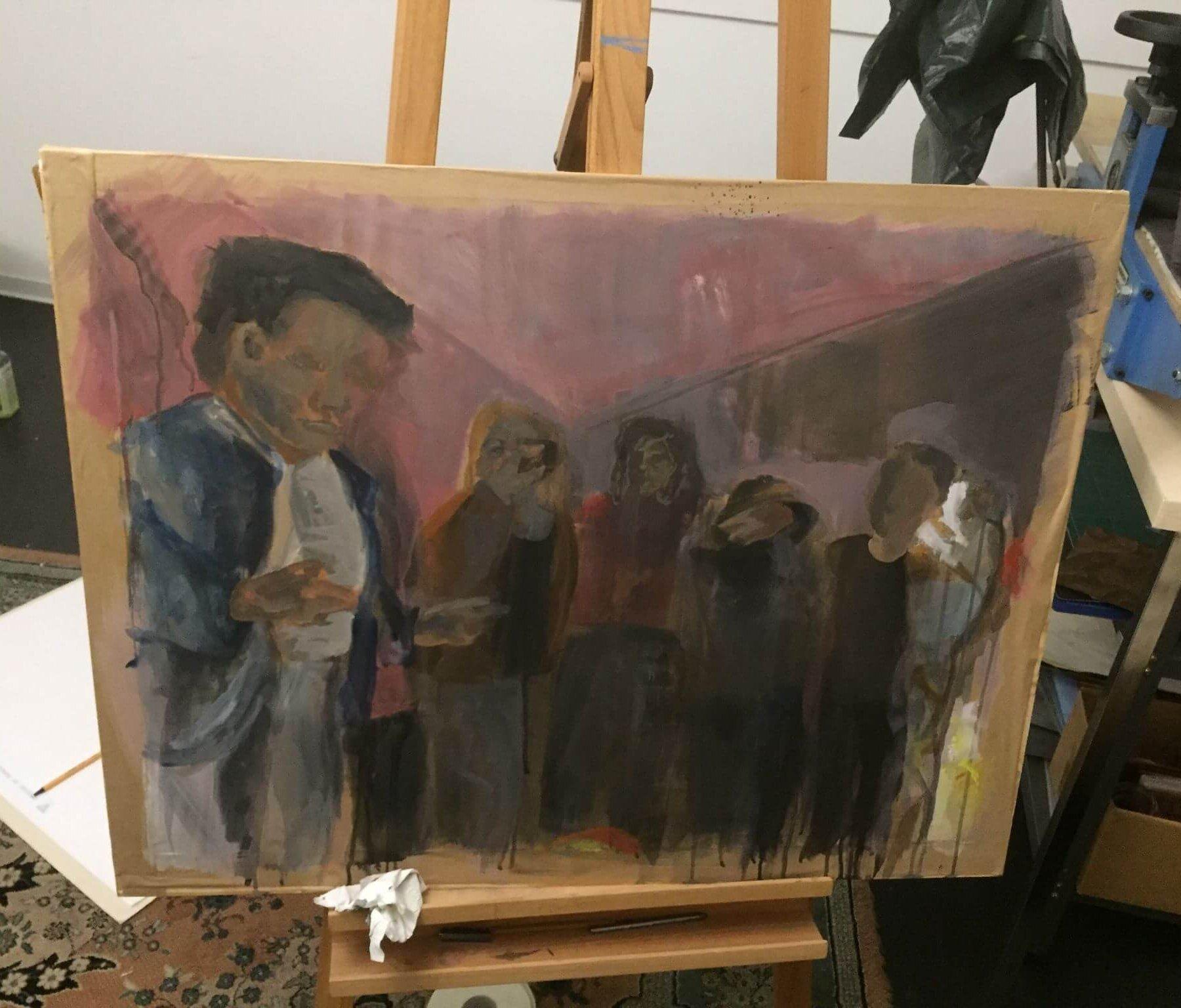 Kreativkreisel Mappenkurs Stuttgart - Malereistudien