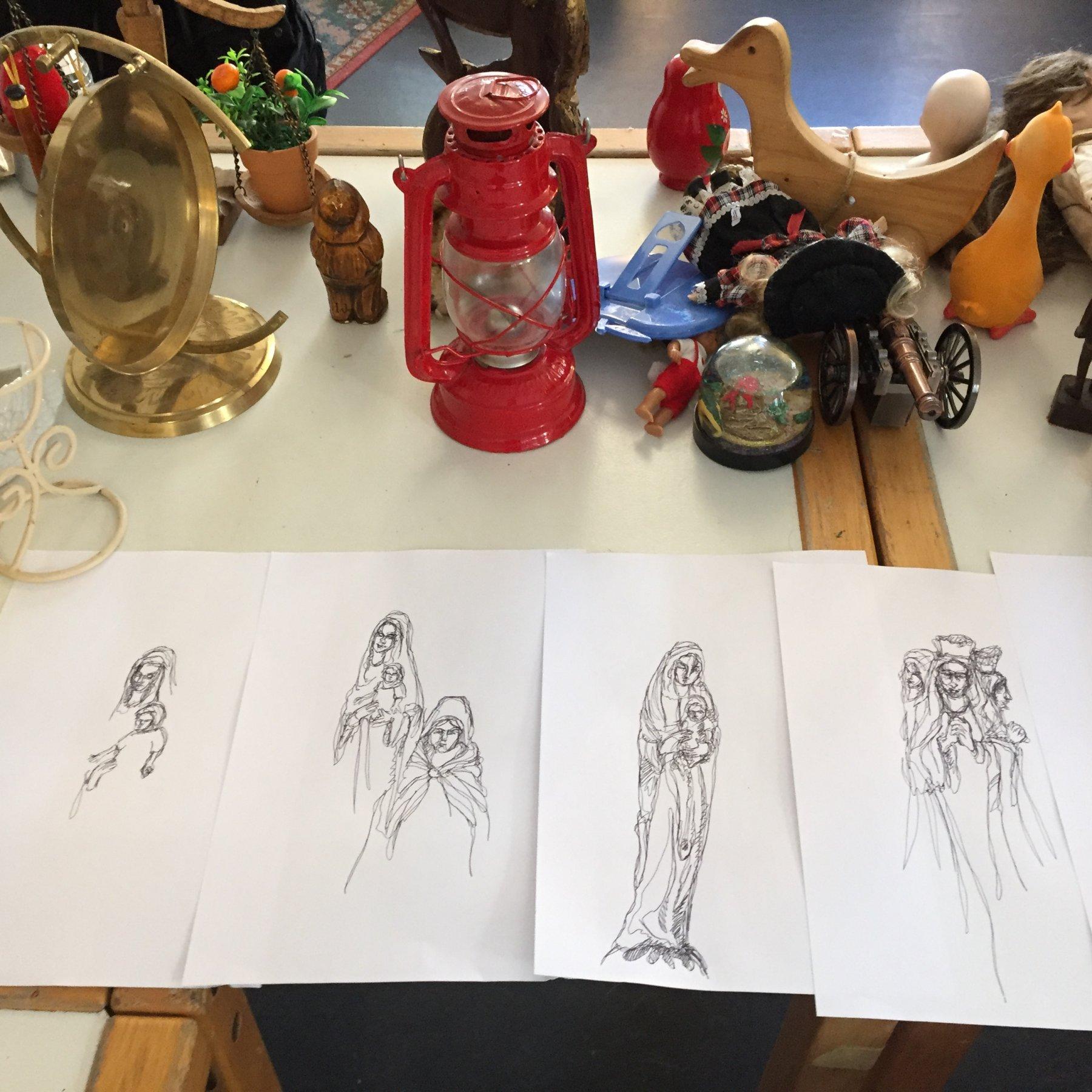 Kreativkreisel Mappenkurs Stuttgart - Zeichenstudien